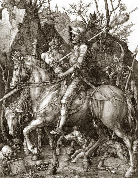 Le chevalier, la mort et le diable Dürer.jpg